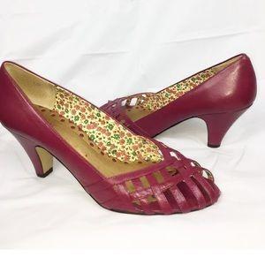 Seychelles pink lattice heels pumps 10